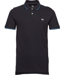pique polo polos short-sleeved svart lee jeans
