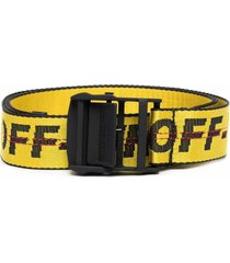 off-white classic industrial belt with logo