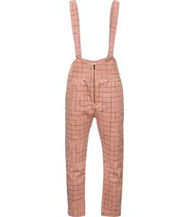 grid braces pants jumpsuit roze bobo choses