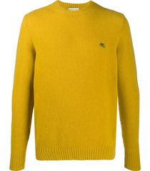 etro embroidered logo pullover - yellow