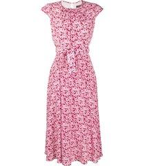 weekend max mara floral printed dress - pink