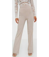 nly one straight high waist pant byxor