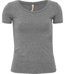 blusa lunender boton㪠cinza - cinza - feminino - algodã£o - dafiti