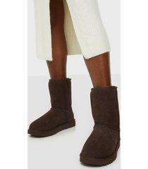 ugg w classic short ii flat boots chocolate