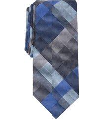 alfani men's ember plaid slim tie, created for macy's
