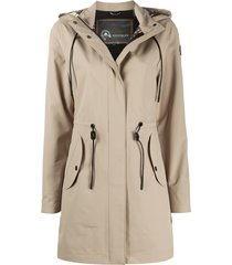 moose knuckles toggle detail hooded coat - neutrals