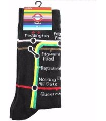 black socks with underground tube metro map transport for london souvenir gift