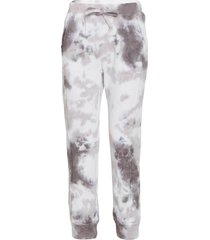 free people women's work it out tie dye jogger pants - black combo - large cotton