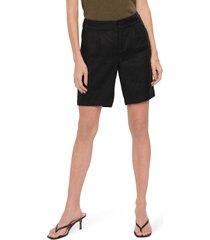 women's nydj modern linen blend bermuda shorts, size 6 - black