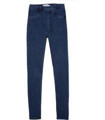 jegging dudalina jeans feminina (v19 jeans medio, 54)