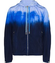 moncler saut tie-dye zip-up jacket - blue
