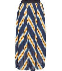 line skirt knälång kjol blå just female