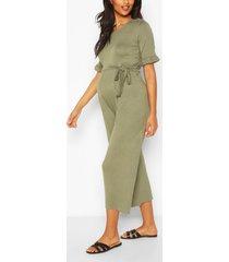 maternity slouchy culotte jumpsuit, khaki