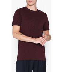jack & jones jjeorganic basic tee ss o-neck noos t-shirts & linnen mörk röd