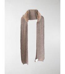 max mara chunky knit wool scarf