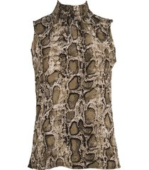 srndpty top sleeveless paula snake army groen