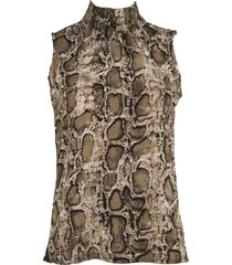 srndpty top sleeveless paula snake army