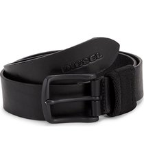 diesel men's b-garda leather belt - black - size 80 (32)