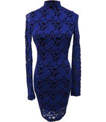 vestido encaje azul nicopoly