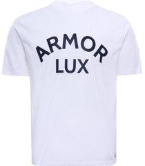 armor lux heritage cotton logo t-shirt   blanc   79131-bkb