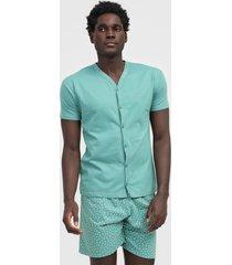 pijama malwee liberta geométrico verde
