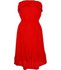 sukienka hiszpanka czerwona lniana