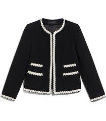 salmone stretch wool jacket