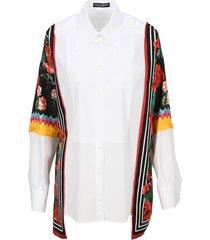 dolce & gabbana poplin shirt with twill inserts