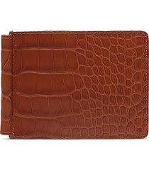 alligator leather money clip wallet