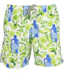 mc2 saint barth gin lime shorts