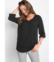 viscose blouse met v-hals