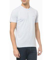 camiseta slim flamê calvin klein - azul claro - p