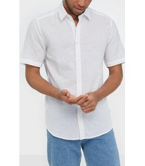 only & sons onscaiden ss linen shirt noos skjortor vit