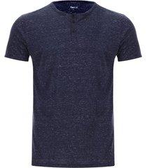 camiseta descanso jaspe color azul, talla xl