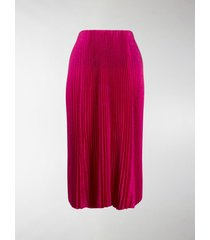 balenciaga pleated mid-length skirt