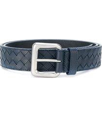 bottega veneta intrecciato weave belt - blue