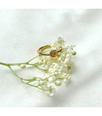 flora- daisy mini - pierścionek