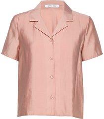 joni ss shirt 11465 overhemd met korte mouwen roze samsøe samsøe