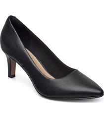 illeana tulip shoes heels pumps classic svart clarks