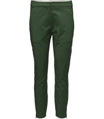 7/8 pants - stella byxa med raka ben grön coster copenhagen