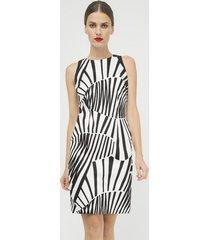sukienka bez rękawów z nadrukiem