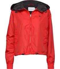 pop colour unpadded windbreaker zomerjas dunne jas rood calvin klein jeans