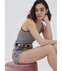 motivi shorts in denim donna grigio
