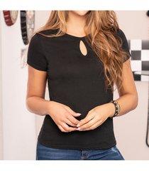 blusa carlota negro para mujer croydon