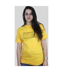 camiseta action clothing lines amarela