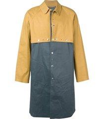 mackintosh 0004 autumn & iron grey bonded cotton 0004 two layer coat