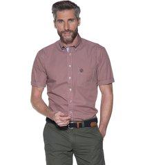 campbell casual shirt met korte mouwen oranje