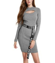 guess charlize belted cutout dress