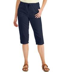 karen scott blair cotton capri pants, created for macy's