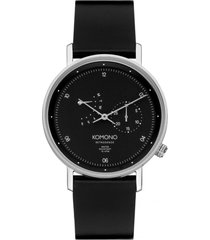 reloj walther retrograde black silver komono